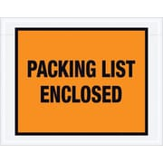 "Staples Packing List Envelope, 7"" x 5 1/2"" - Orange Full Face, ""Packing List Enclosed"", 1000/Case"