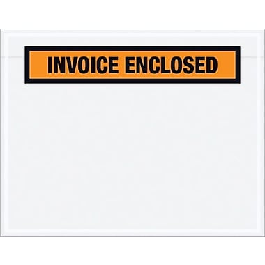 Staples Packing List Envelope, 7in. x 5 1/2in. Orange Panel Face in.Invoice Enclosedin.