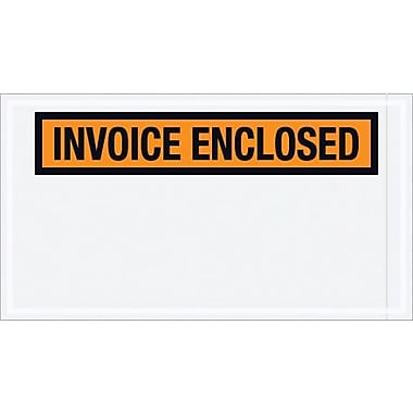 Staples Packing List Envelope, 5 1/2in. x 10in. Orange Panel Face in.Invoice Enclosedin., 1000/Case