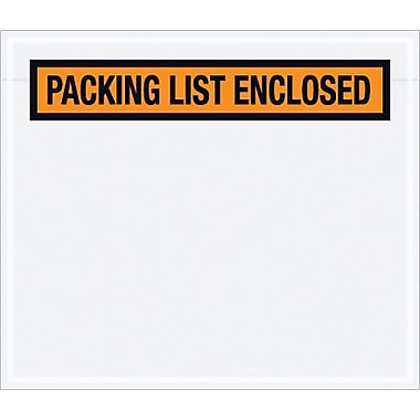 Staples Packing List Envelope, 7in. x 6in. - Orange Panel Face, in.Packing List Enclosedin., 1000/Case