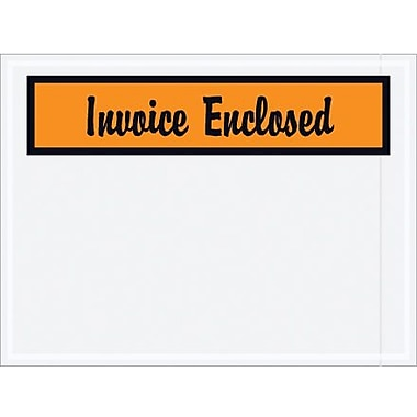 Staples Packing List Envelope 4 1/2in. x 6in. Orange Panel Face in.Invoice Enclosedin., 1000/Case