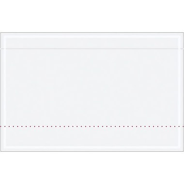 Staples Packing List Envelope, 10 3/4in. x 6 3/4in., Clear, 500/Case