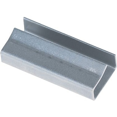 1/2in. - Staples Open/Snap On Metal Poly Strapping Seals, 2500/Case