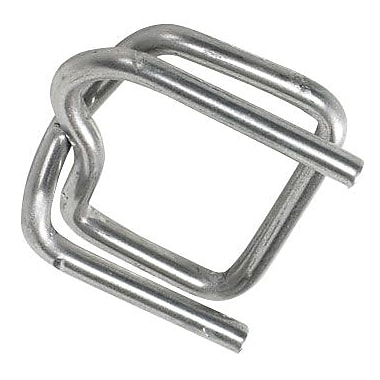 1/2in. - Staples Heavy-Duty Wire Poly Strapping Buckles, 1000/Case