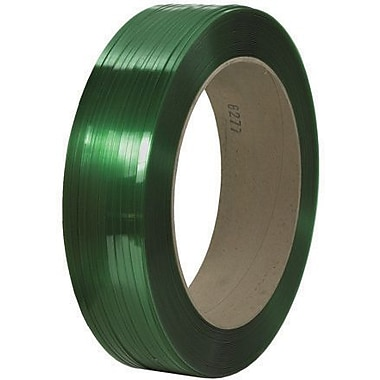 7/16in. x 9000' - 16in. x 6in. Core - Signode Comparable Polyester Strapping - Smooth, 1 Coil