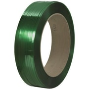 "1/2"" x 6500' - 16"" x 6"" Core Signode Comparable Polyester Strapping - Smooth, 1 Coil"