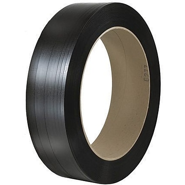 7/16in. x 9000' - 16in. x 6in. Core-Staples Hand Grade Signode Comparable Polypropylene Strapping -Smooth, 1 Coil