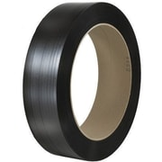 """1/2"""" x 7000' - 16"""" x 6"""" Core-Staples Hand Grade Signode Comparable Polypropylene Strapping Smooth, 1 Coil"""