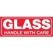 "Tape Logic Glass - Handle With Care Tape Logic Shipping Label, 1 1/2"" x 4"", 500/Roll"