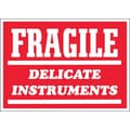 Tape Logic Fragile - Delicate Instruments Shipping Label, 3in. x 4in., 500/Roll