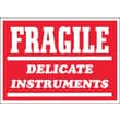 Tape Logic Fragile - Delicate Instruments Shipping Label, 3in. x 4in.