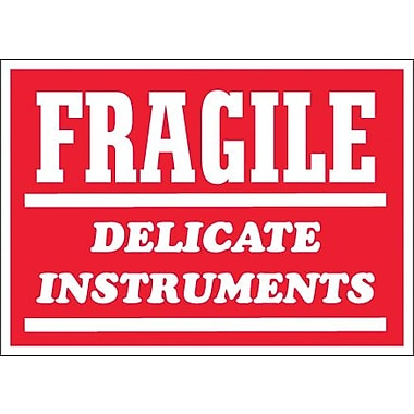 Tape Logic Fragile - Delicate Instruments Shipping Label, 3