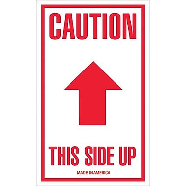 Tape Logic Caution - This Side Up Shipping Label, 3in. x 5in.