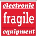 Tape Logic Fragile - Electronic Equipment Tape Logic Shipping Label, 4in. x 4in.