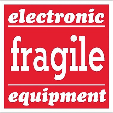 Tape Logic Fragile - Electronic Equipment Tape Logic Shipping Label, 4in. x 4in., 500/Roll