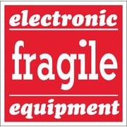 "Tape Logic Fragile - Electronic Equipment Tape Logic Shipping Label, 4"" x 4"", 500/Roll"