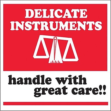 Tape Logic Delicate Instruments - HWC Tape Logic Shipping Label, 4in. x 4in.