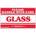 Tape Logic Glass - Please Handle With Care Shipping Label, 3in. x 5in.