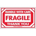 Tape Logic Fragile - Handle With Care Thank You Shipping Label, 3in. x 5in.