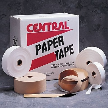 Central Kraft 160 Medium Paper Tape, 3in. x 600', 10/Case