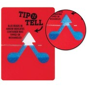"Tip-N-Tell 3.87""L x 2.87""W x 0.12""D Tipping Indicator, Red (TNT100)"