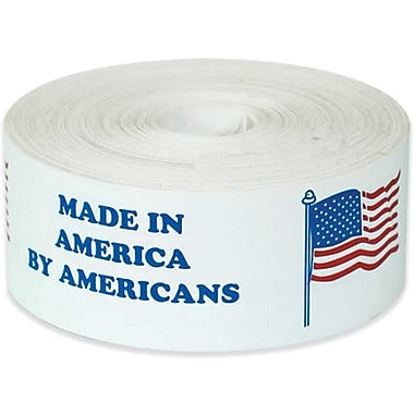 Tape Logic Made in America by Americans Shipping Label, 2in. x 6in., 500/Roll
