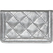 Buxton Quilted Card Case, Pewter
