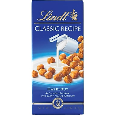 Lindt Classic Recipe Chocolate Bars, Hazelnut, 4.4 oz., 12 Bars/Box