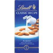 Lindt Classic Recipe Chocolate Bars, Almond, 4.4 oz., 12 Bars/Box