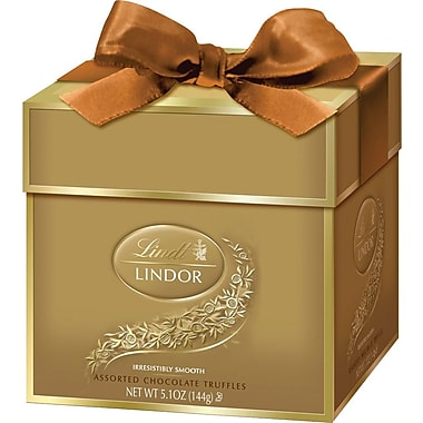 Lindt LINDOR Chocolate Truffles Token Gift Box, Assorted, 12 Truffles/Box