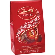 Lindt LINDOR Chocolate Truffles Mini Bags, Milk Chocolate, 1.3 oz., 24 Bags/Box