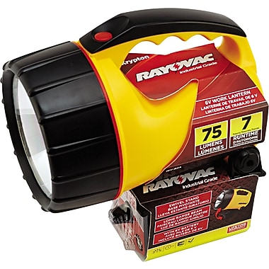 Rayovac® Industrial™ Lantern, Yellow, Krypton, 6 V Heavy Duty