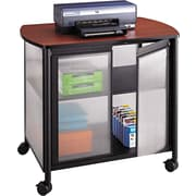 "Safco ® Impromptu 30 3/4""H x 34 3/4""W x 25 1/2""D Deluxe Machine Stand With Doors, Black/Cherry"