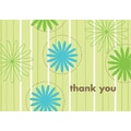 Daisy Stripes Thank You Note Cards, 24 count