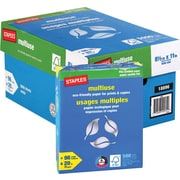 Staples® FSC-Certified Eco-Responsible Multiuse Paper, 20 lb., 8-1/2in. x 11in., Case $58.96 $63.96 Save  7%