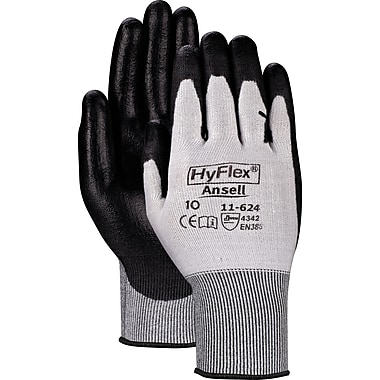 Ansell® HyFlex® Cut Resistant Gloves, Polyurethane, Knit-Wrist Cuff, X-Large Size, 12 Pairs