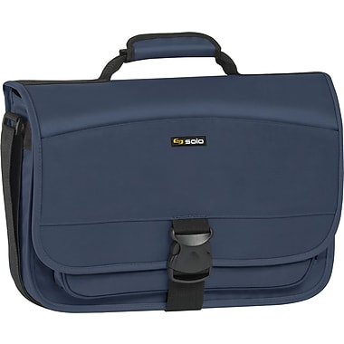 SOLO Classic 15.6in. Expandable Messenger Bag, Navy Blue
