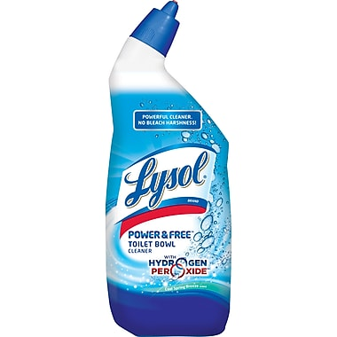 LYSOL Power & Free Toilet Bowl Cleaner, Cool Spring Breeze Scent, 24 oz.