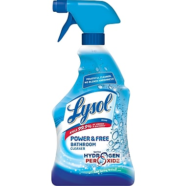 LYSOL Power & Free Bathroom Cleaner, Cool Spring Breeze Scent, 22 oz.