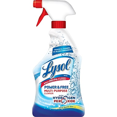 LYSOL Power & Free Multi-Purpose Cleaner, Citrus Sparkle Zest Scent, 22 oz.