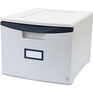 Storex Locking Stacking File Drawer