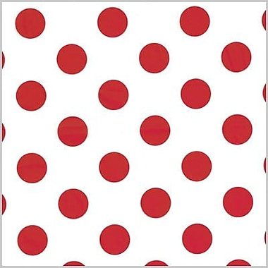 Shamrock Printed Tissue, Polka Dot Red