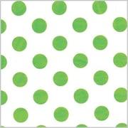 Shamrock Printed Tissue, Polka Dot Lime