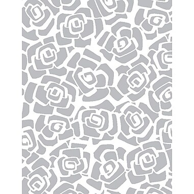 Shamrock Printed Tissue, Silver Roses