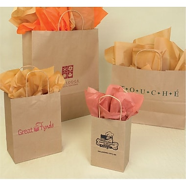 Bonita 16in. x 6in. x 19.25in. Recycled Natural Kraft Shopper