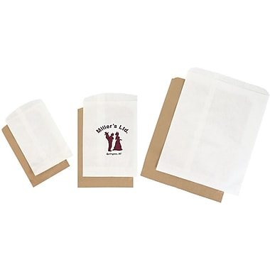Shamrock White Kraft Merchandise Bag, 8.5in. x 11in.