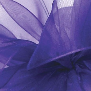 Berwick/Offray Purple Simply Sheer Asiana (Mono-edge) Ribbon 7/8in. x 100'