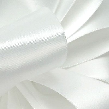 Berwick/Offray White Double Face Satin Ribbon 7/8