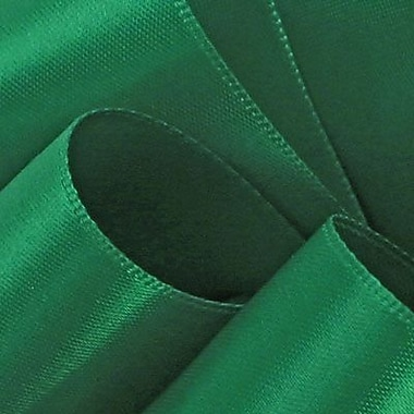 Berwick/Offray Emerald Double Face Satin Ribbon 7/8