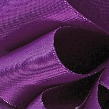 Berwick/Offray Purple Double Face Satin Ribbon 1.5in.